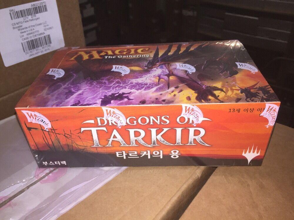 KOREAN Magic The Gathering Dragons Of Tarkir Sealed Booster Box For Card Game
