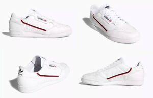 huge selection of 9421a b7090 Image is loading Adidas-Continental-80-Shoes-Leather-White-Blue-Red-