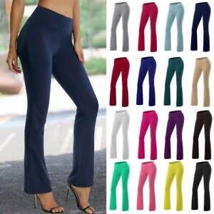 Women-Bootcut-Yoga-Pants-Bootleg-Flare-Trouser-High-Waist-Workout-Casual-Fitness