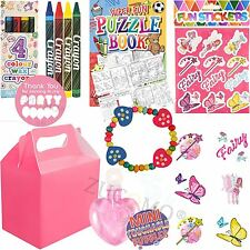 Girls Pink Childrens Wedding Activity Packs Favours Gift Party Bag Kids Boxes