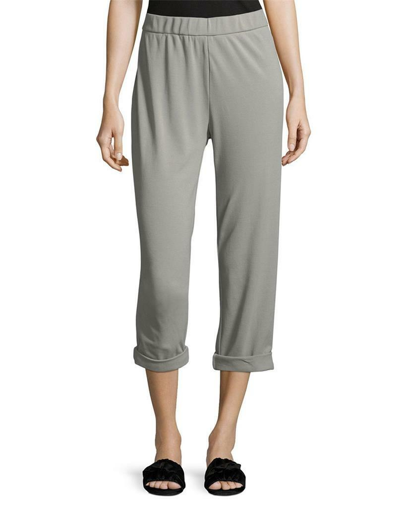 BRAND NEW   195 JAMES PERSE COTTON JERSEY PULL ON ANKLE PANTS GREY SIZE 4(L)