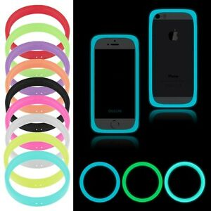 reputable site f642d 7cfcc Details about Universal Fluorescent Protective Silicone Bracelet Phone  Cover Bumper Ring Case