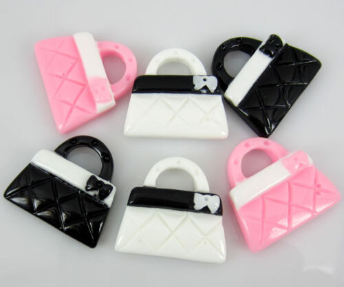 """30pcs 7//8/"""" Mix resin flatback cabochons Handbag For Appliques//Craft//Scrapbooking"""