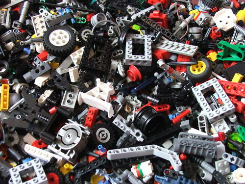 Lego Technic 500g Half Kilo Random Pieces Beams Axles Car Wheels Build
