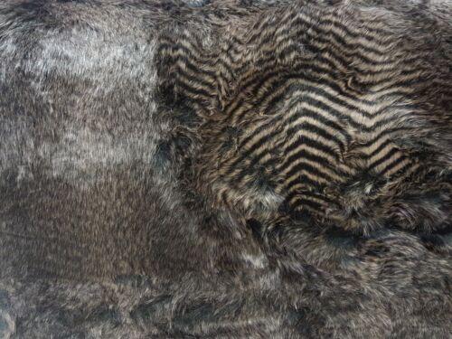 Webpelz Mohair Moelleux Fausse Fourrure Tissu raton laveur fourrure noir beige deco