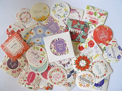 1 box 38 PCS Happy every day flower diary paper Crafts  Envelope Seal sticker