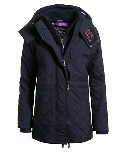2c6182d5d8f New Womens Superdry Technical Quilted SD-Wind Parka Jacket French ...