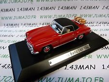 AK13 voiture 1/43 ixo atlas Auto Klassiker : MERCEDES BENZ 190 SL rouge