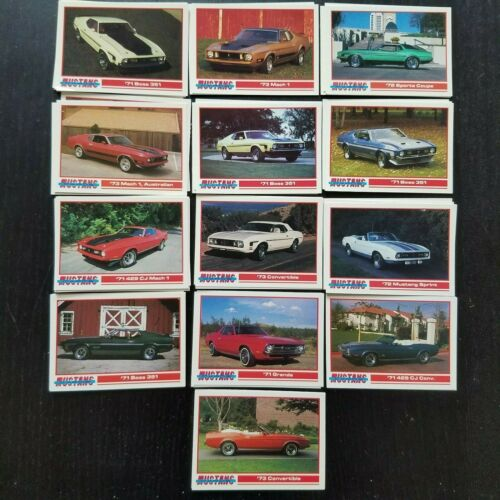 Mach 1 Trading Cards New Mint Condition 13 1971 1972 1973 Ford Mustang Boss 351