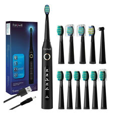 Fairywill Electric Toothbrush Whitening Ultra Sonic Toothbrushes 12 Brush Heads