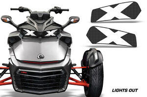 Headlight-Eye-Graphics-Kit-Decal-Cover-For-Can-Am-Spyder-F3-Roadster-LIGHTS-OUT
