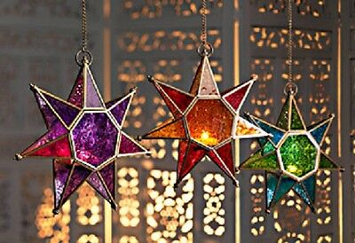 Moroccan style hanging star lantern