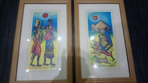 Pair-of-J-H-Wright-African-Tribe-print-picture-prints