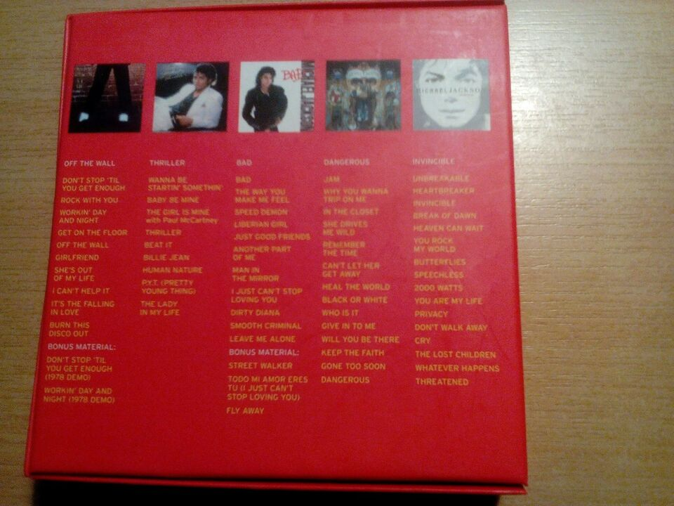 Michael jackson: The Collection box, andet