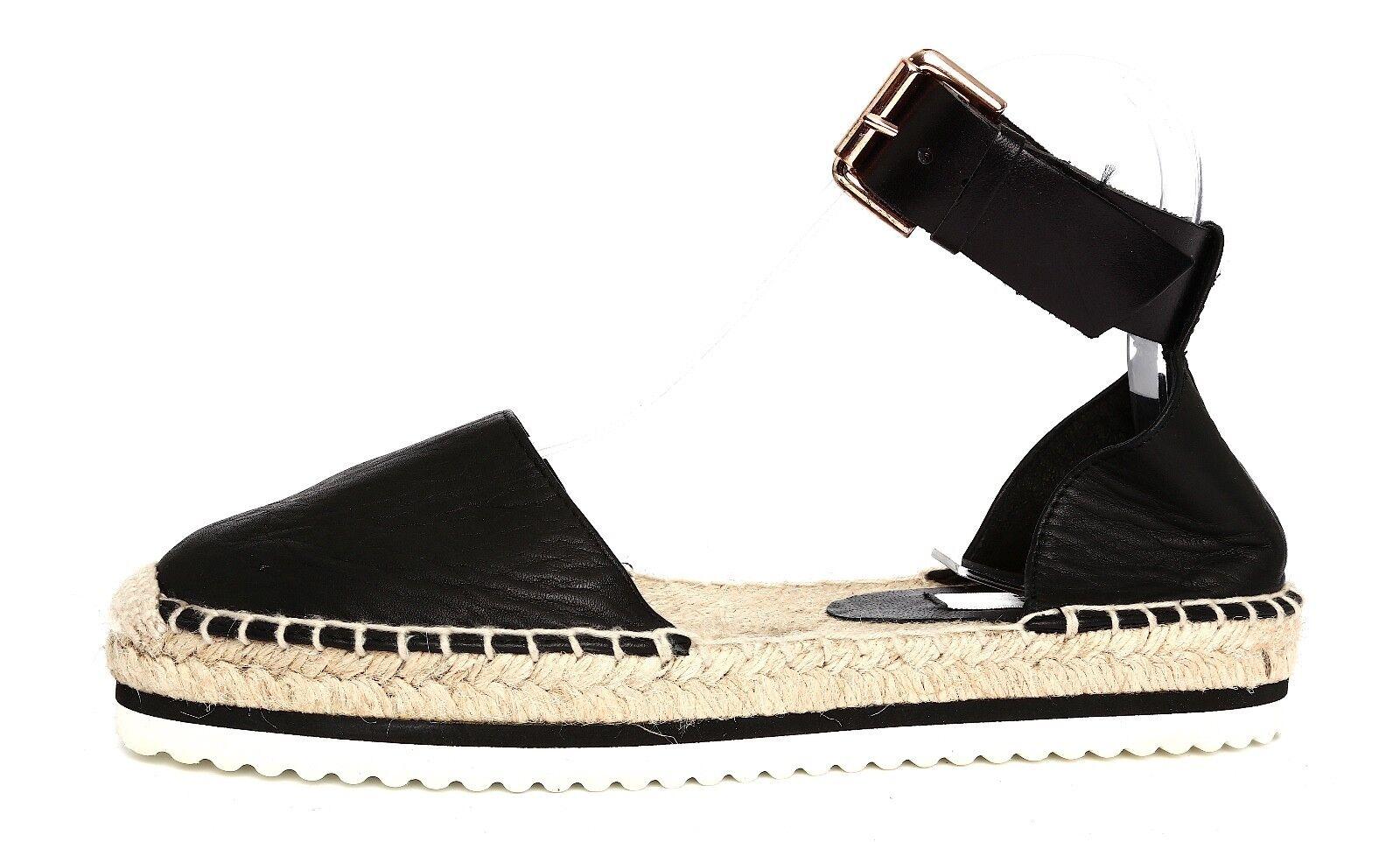 prezzo all'ingrosso Miista Donna  nero Leather Ankle Ankle Ankle Strap Espadrilles Sz 36 EUR 3261  consegna gratuita