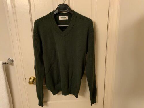 Barbour wool v neck sweater men's size 46 vintage