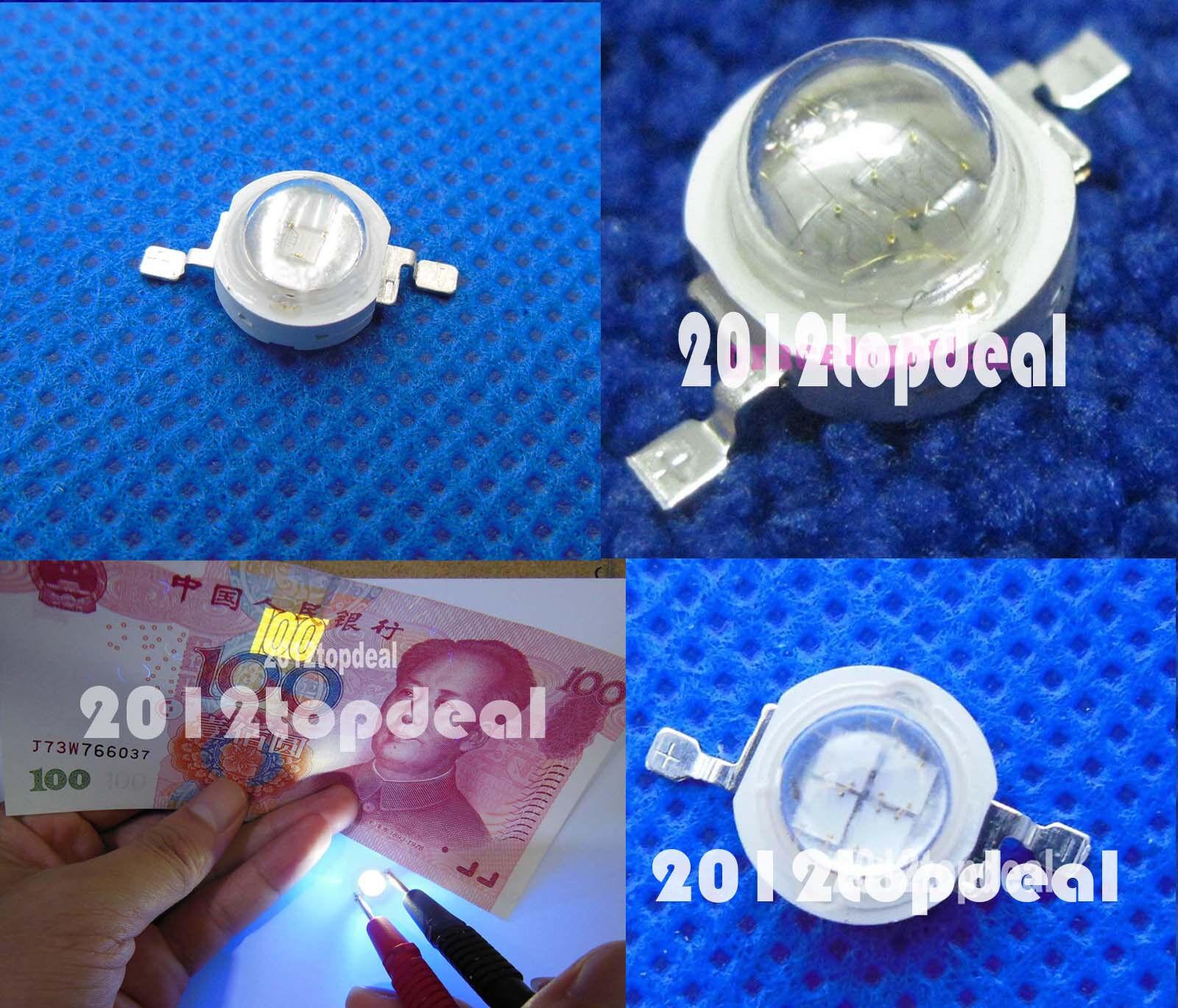 High Power 1W 3w 5w Ultra lila UV 365-370nm   395-400nm LED Lamp bead Emitter