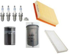 Kit-de-Servicio-Bosch-se-ajusta-Audi-A4-VW-Passat-Aire-Aceite-Combustible-Bujias-Filtro-De-Cabina