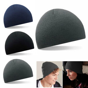 d148c1758 Details about Unisex Mens Ladies Knitted Beanie Hat Womens Winter Warm  Wooly Ski Skull Cap