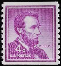 1958 4c Abraham Lincoln, Coil Scott 1058 Mint F/VF NH