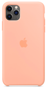 2019-iPhone-11-Pro-Max-Apple-Echt-Original-Silikon-Huelle-Case-Grapefruit