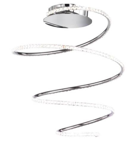 31W Dimmbar 3000K Chrom Warmweiß Wofi LED DeckenleuchteSoller