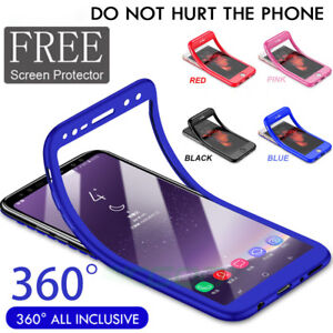 Pour-Samsung-Galaxy-S9-S8-Hybride-360-Slim-TPU-amp-protecteur-d-039-ecran