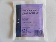 Reliswab garza di cotone idrofilo TAMPONI 7.5cm x 7.5cm Qtà 10 pacchetti