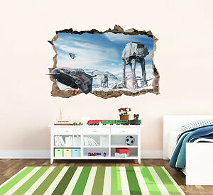 Star Wars Bedroom Wall Art Sticker 3d Decal Transfer Sticker Hole