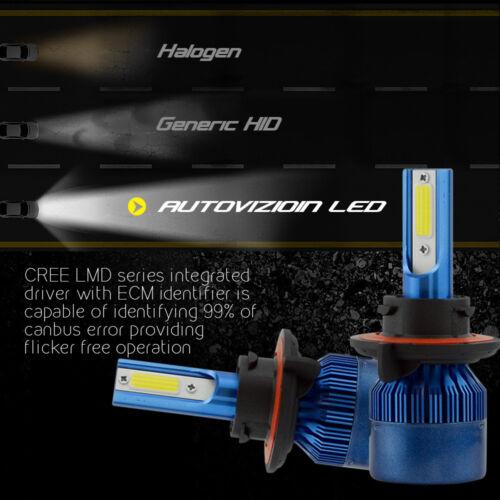 H13 488W 48800LM CREE LED Headlight Kit High//Low Beam Bulbs White 6K High Power
