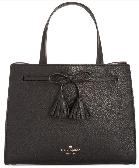 New Kate spade new york black leather bag Hayes Street Small Isobel PXRU7598 48b4c91d28d36