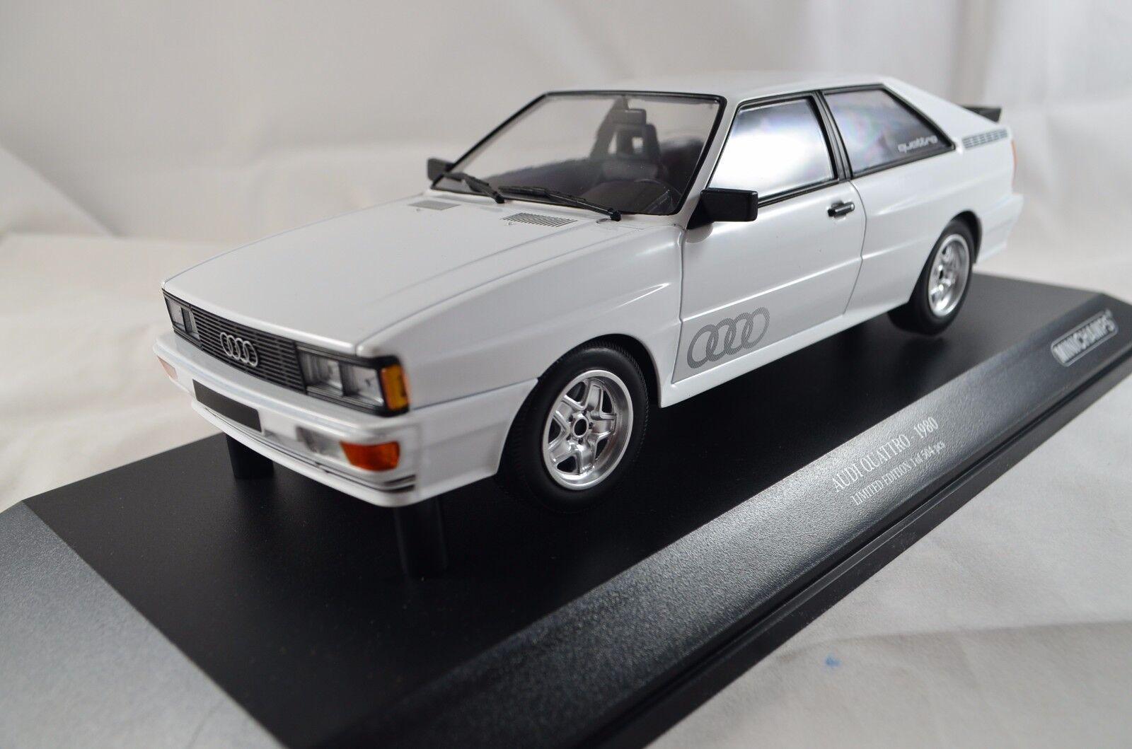 Audi Quattro – 1980 – Blanc. 504 PC... 1 18 métal, MINICHAMPS 155016120