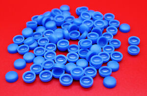 10x-blaue-Abdeck-Kappen-Kennzeichen-Schrauben-Nummerschild-fuer-PKW-LKW-Motorrad