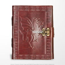 Medieval Genuine Leather Journal Diary Parchment Paper Brown Fierce Dragon Theme