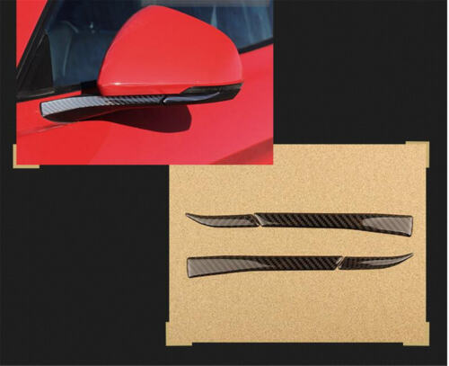 Carbon Fiber Side Wing Mirror Frame Cover Trim für Ford Mustang A07