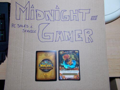 Sandbox Tiger x5 AND SlashDance x5 UNSCRATCHED World of Warcraft TCG Loot Card