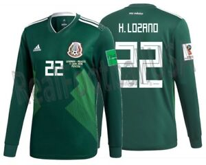 ad1f79f03 ADIDAS HIRVING LOZANO MEXICO LONG SLEEVE HOME JERSEY WORLD CUP 2018 ...