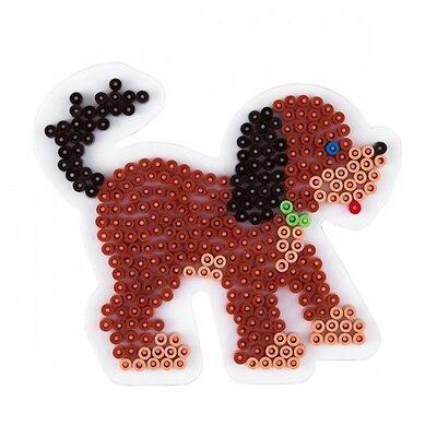 HAMA midi Bügelperlen-Stiftplatte weiß Nr.287 Hund