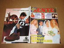 RIVISTA GENTE 2-10-1995 STEFANIA DI MONACO MATRIMONIO CARLUCCI STREISAND MUCCIOL