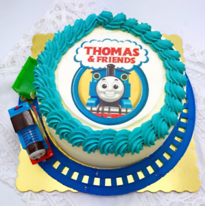 Astounding Run On Track Thomas The Tank Engine Train Toy Party Cake Topper Personalised Birthday Cards Paralily Jamesorg