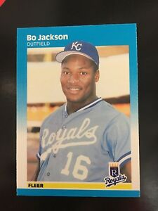 Bo Jackson 1987 Fleer Rookie Baseball Card 369 Nm Condition