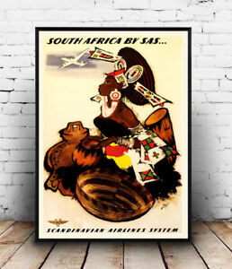 South-Africa-SAS-Vintage-Travel-advert-Wall-art-poster-Reproduction