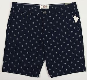 Men's PENGUIN Navy Blue Logo Walking Shorts 38 NWT NEW Slim Fit ...