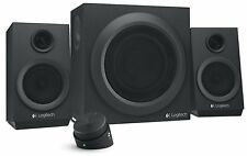 Logitech Z333 80 Watts Multimedia Speakers (980-001203) 2.1 Channel, New