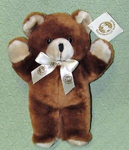 1984-GOOD-BEARS-of-the-WORLD-Vintage-Teddy-Bear-with-TAG-11-Brown-Tan-Plush-Toy