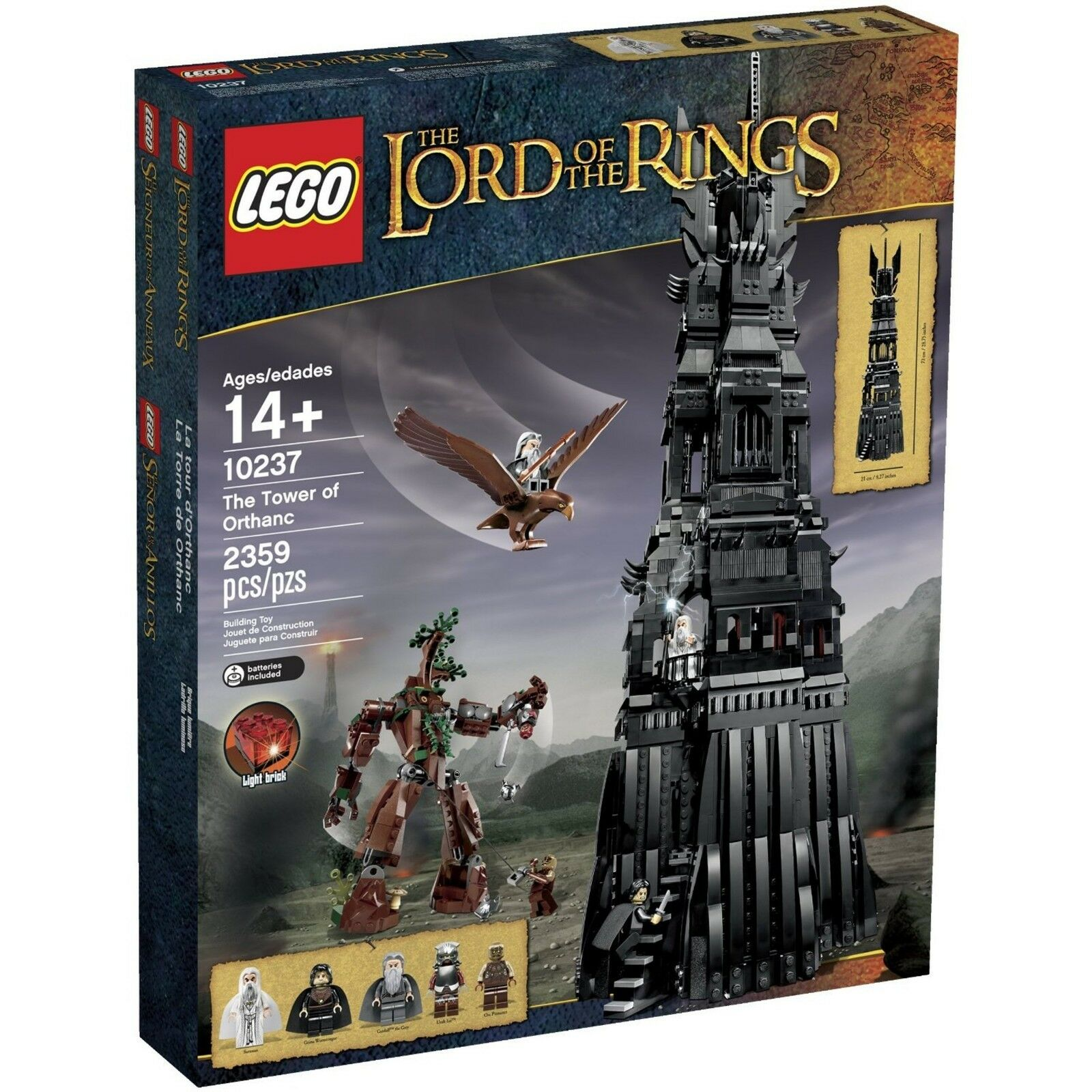LEGO 10237 THE LORD OF THE RINGS THE TOWER OF ORTHANC NUOVO NEW NISB