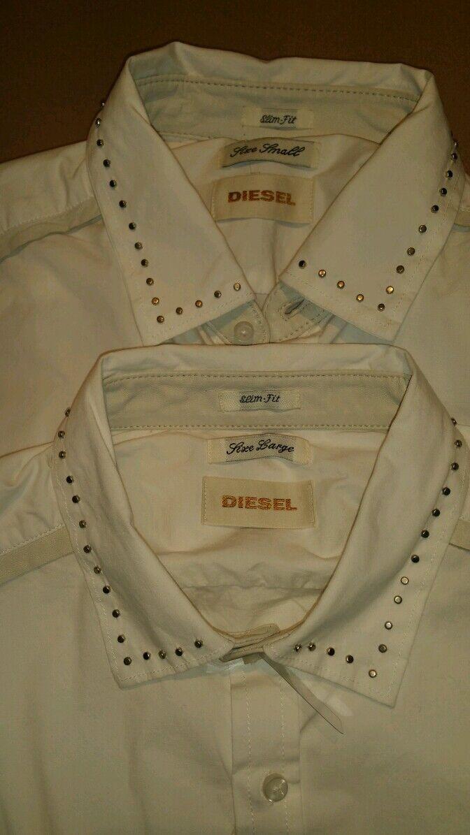 Diesel  Sturbini Stud  Diesel AND Pelle Detail Shirt bianca 78784e