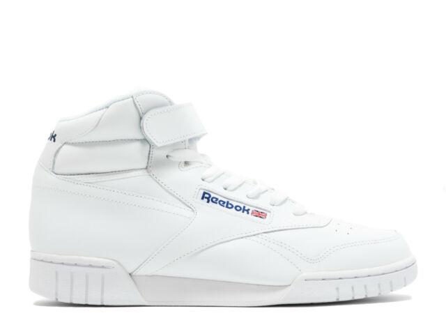 Reebok Men's CLASSIC EX O FIT HI Shoes White 3477 d