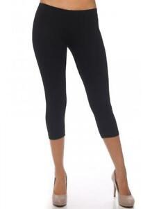 capri legging juniors bozzolo black stretch pants cotton