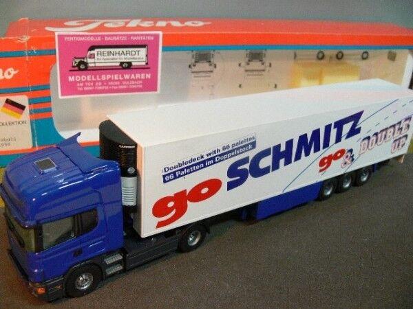 1 50 tekno scania schmitz Kühlkoffer-semi-remorque